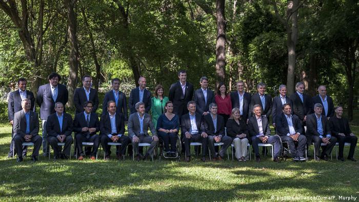 Argentinien Regierungskabinett Gruppenbild (picture-alliance/Zuma/P. Murphy)