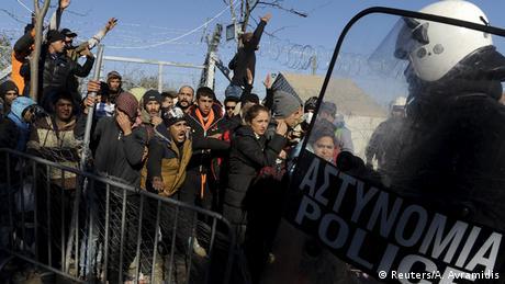 Griechenland Flüchtlinge an der Grenze zu Mazedonien