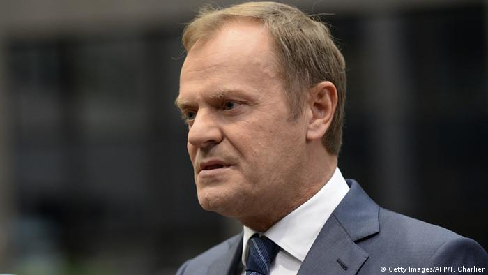 European Council President Donald Tusk gives an interview