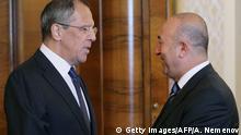 Russland Türkei Außenminister Sergej Lawrow und Mevlüt Cavusoglu