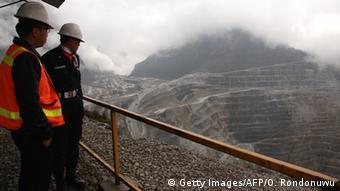 Indonesien Freeport McMoRan's Grasberg Goldmine in Papua