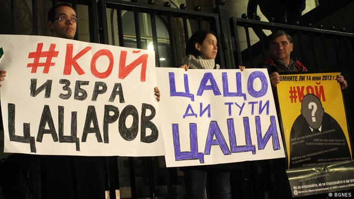 Bulgarien Protest gegen Generalstaatsanwalt Sotir Tsatsarov
