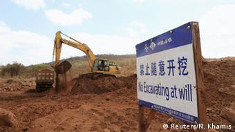 Bango la kampuni ya China inayojenga reli Kenya