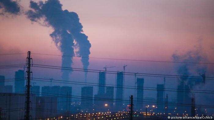 Smog sobre Changchun, China