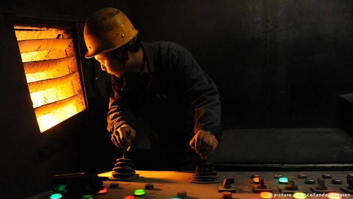 Chinese steel factory in Beijing