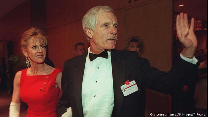 Ted Turner und Frau Jane Fonda