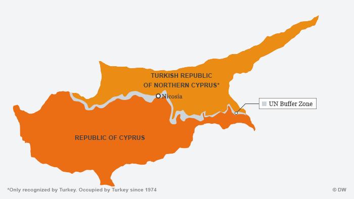 Karte von Zypern ENGLISCH