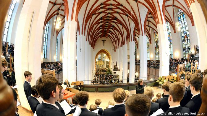 Boys choir in Leipzig, Germany