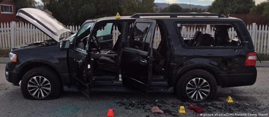 Polícia cercou carro no qual atiradores fugiram