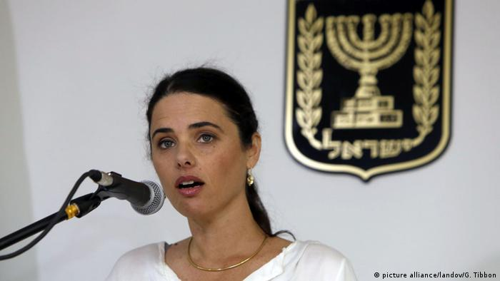 Israel Tel Aviv Ayelet Shaked Politikerin