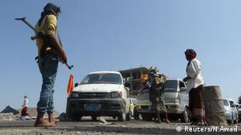 Jemen Aden Konvoi Kontrolle Checkpoint