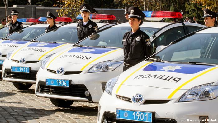 Ukraine Polizeifahrzeuge Polizei
