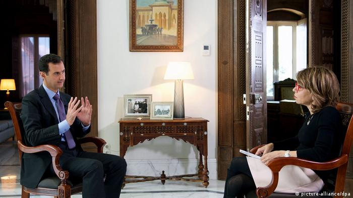 Syriens Präsident Assad Interview mit Journalistin Hala Jaber