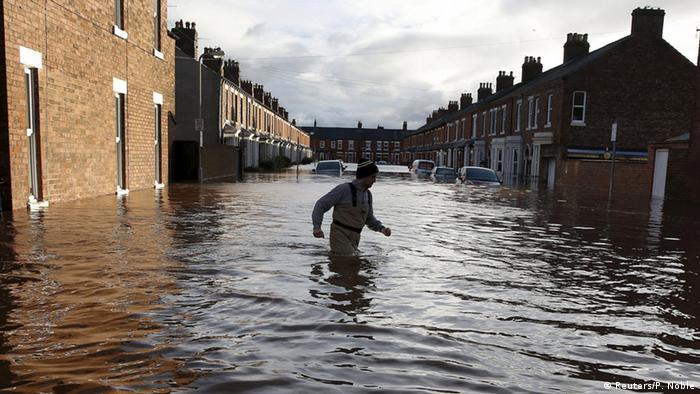La tormenta Desmond causó graves inundaciones en Gran Bretaña.