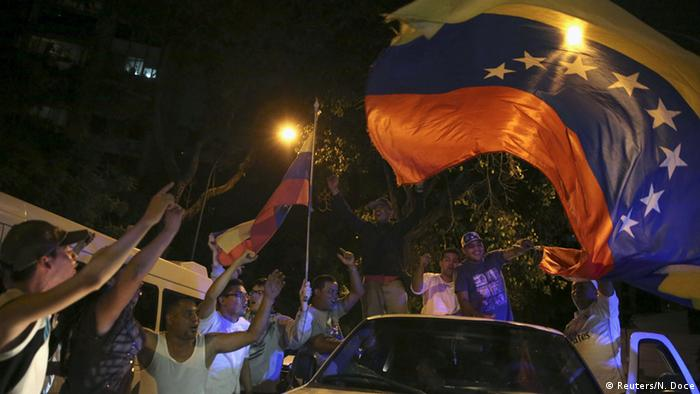 Venezuela Wahlen Feier Wahlsieg Opposition MUD