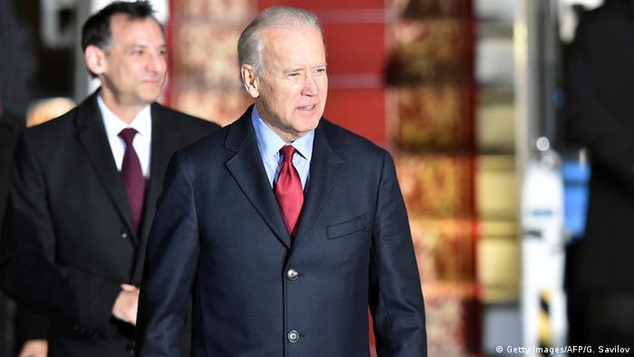 USA Ukraine Joe Biden in Kiew Ankunft