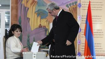 President Serzh Sarksyan's supporters saw the referendum as a vote of confidence in the ruling party