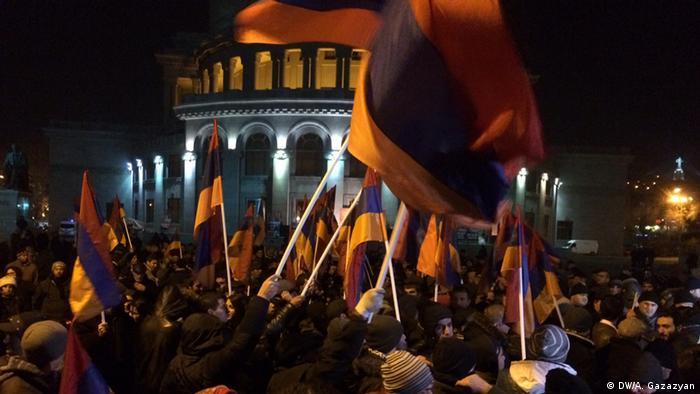 Ночные протесты в Ереване