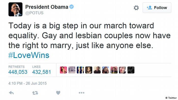 Tweet des US-Präsidenten Barack Obama