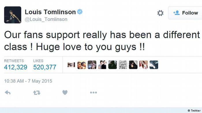 Tweet der britischen Band One Direction