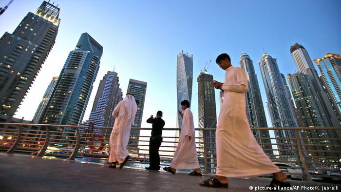 Dubai Marina Manhattan des Mittleren Ostens