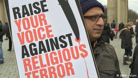 Deutschland Demo gegen die Morde an Bloggern in Bangladesch