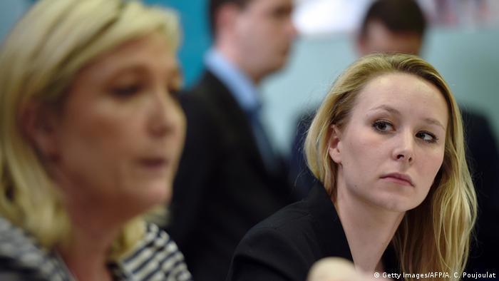 Frankreich Front National Marine Le Pen mit Marion Marechal Le Pen (Foto: Getty Images/ AFP/A. C. Poujoulat)