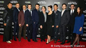 The cast of Man in the High Castle at the New York premiere in November, Copyright: Getty Images/A. Stawiarz