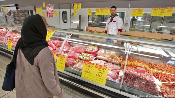 Symbolbild Halal Supermarkt einkaufen Islam Essen Ernährung