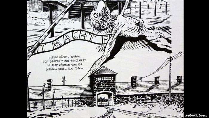Deutschland Solingen Zentrum für verfolgte Künste Cartoon Michel Kichka