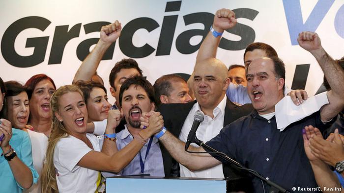 Venezuela Wahlen Lilian Tintori Opposition Jubel Wahlsieg