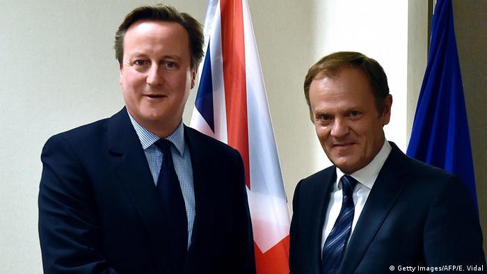 Brüssel Donald Tusk und David Cameron