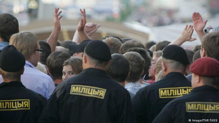 Белорусская милиция на акции протеста в Минске (фото из архива)