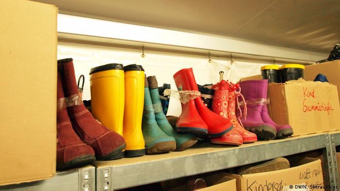 Refugees' boots