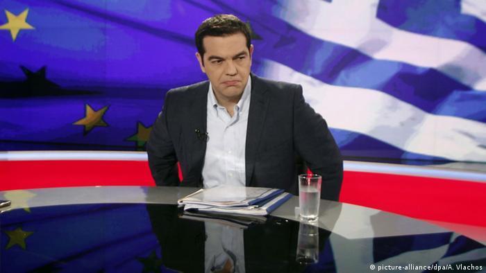 Griechenland Alexis Tsipras im Staatsfernsehen ERT