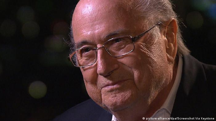 FIFA President Sepp Blatter im TV Interview