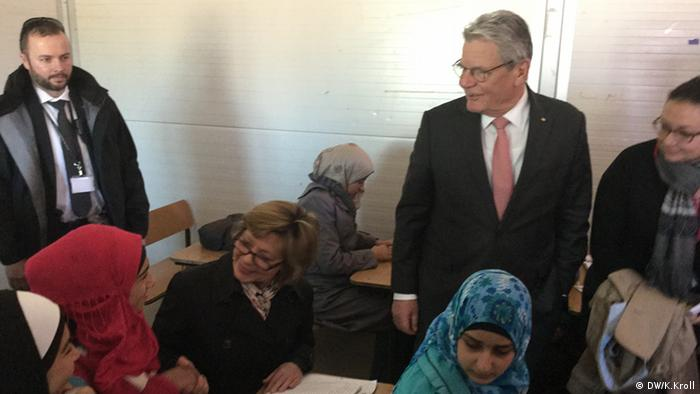 Flüchtlingslager Amman Jordanien Joachim Gauck