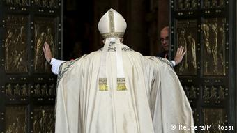 Pope Francis opening the Holy Door at St. Peter's Basilica