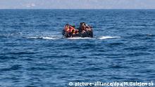 Flüchtlinge Boot Meer Griechenland Türkei Ägäis