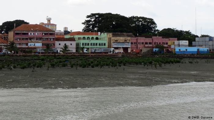 Vista parcial da parte antiga de Bissau