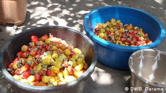 Guinea-Bissau Cashew-Nüsse im Dorf Vila de Quisseth