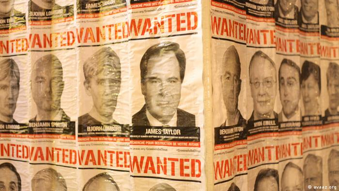 Avaaz Wanted posters. (Photo: Avaaz)