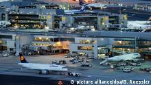 Frankfurt bei Nacht Flughafen