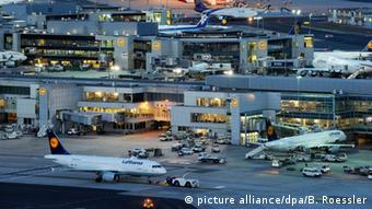 Frankfurt Airport by night