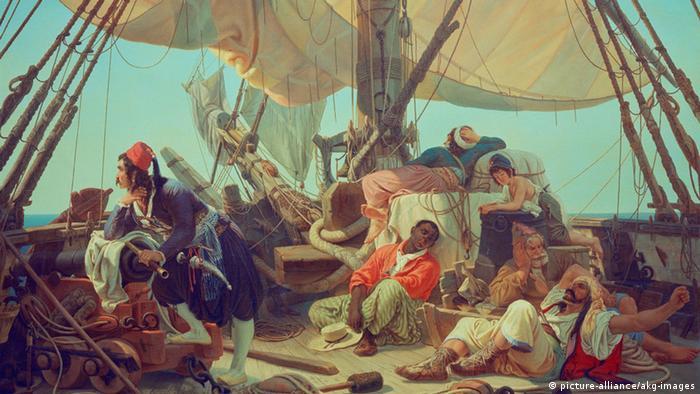 Symbolbild Piraterie: Gemälde von Niels Simonsen