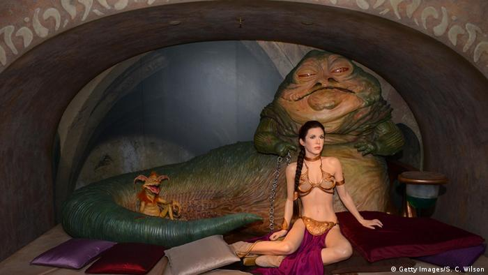 USA Star Wars Prinzessin Leia goldener Bikini bei Madame Tussauds in London