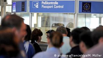 Паспортный контроль в мюнхенском аэропорту