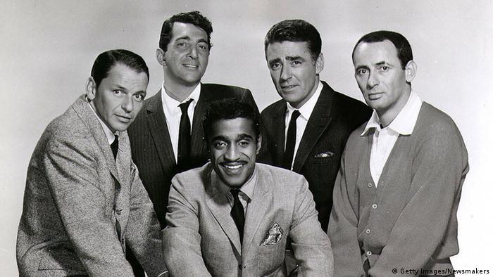 Das Rat Pack: Frank Sinatra, Dean Martin, Sammy Davis Jr., Peter Lawford und Joey Bishop