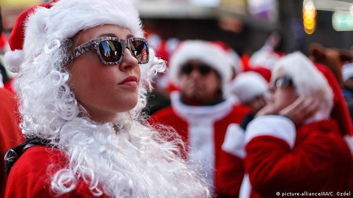 USA Weihnachtsfrau Verkleidung Sonnenbrille