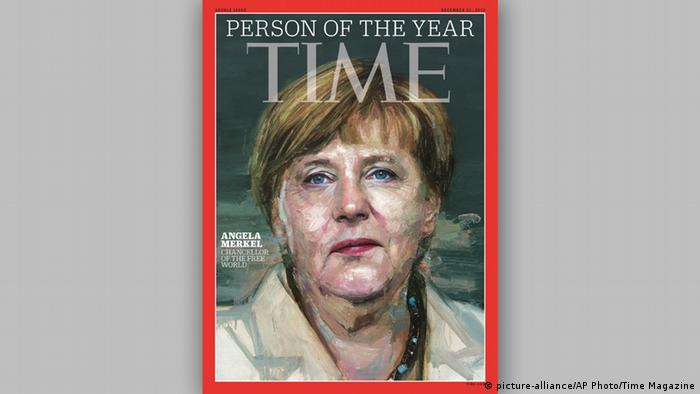 Angela Merkel Person of the Year Time Magazine (picture-alliance/AP Photo/Time Magazine)